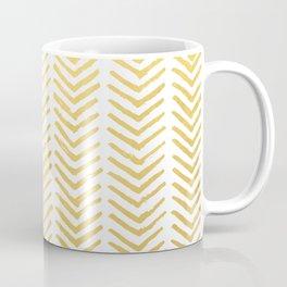 Brush painted chevron in gold Coffee Mug
