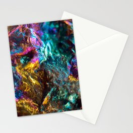Rainbow Oil Slick Crystal Rock Stationery Cards