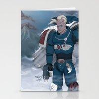 warhammer Stationery Cards featuring Warhammer 40,000 Space Wolf Marine by Derek Boman
