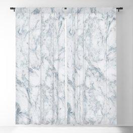 Vintage elegant navy blue white stylish marble Blackout Curtain