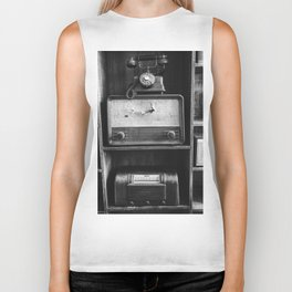 Retro Stand (Black and White) Biker Tank