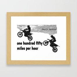 150 mph Crazy Raisins Framed Art Print