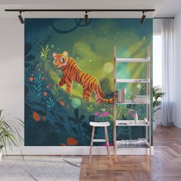 Tiger in the Garden of Kings Wall Mural