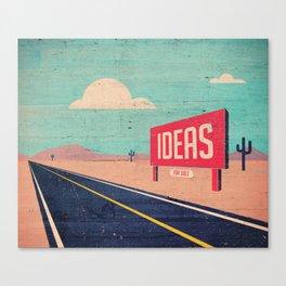 IDEAS FOR SALE Canvas Print