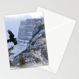 Mt Rundle & Raven (Canadian Rockies) Stationery Cards