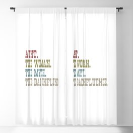 AUNT THE WOMAN THE MYTH THE BAD INFLUENCE Blackout Curtain