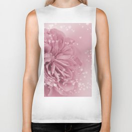 Light Pink Rose with hearts #1 #floral #art #society6 Biker Tank