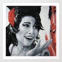 """amy poehler Art Prints featuring """"Amy"""" by Dmitry  Buldakov"""