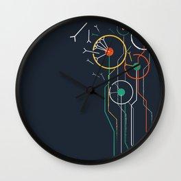 Geometric dandelion flower print  Wall Clock
