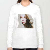 literary Long Sleeve T-shirts featuring Literary Girl by Charlotte Massey