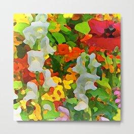 Colorful Flower Garden Metal Print
