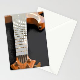 Morphed Portrait of an Electric Bass Stationery Cards