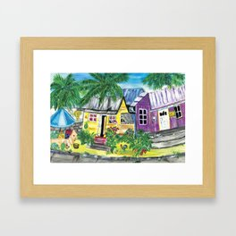 Homes, Sweet Island Homes Framed Art Print