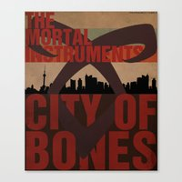 the mortal instruments Canvas Prints featuring The Mortal Instruments: City of Bones by thespngames
