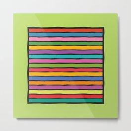 dp203-4B Colorful Stripes Metal Print