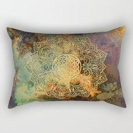 Flower Of Life Batik Rectangular Pillow