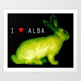 I LOVE ALBA Art Print