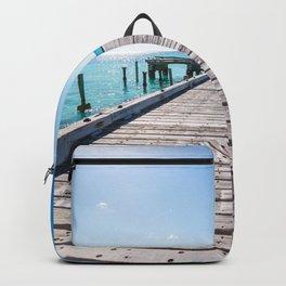 Turks and Caicos beach pier Backpack