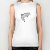 trout Biker Tanks featuring Trout - by Rui Guerreiro by CRG ArtDesign