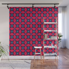 captivating kaleidoscope decorative blue and red Wall Mural
