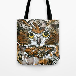 Owl Tea Tote Bag