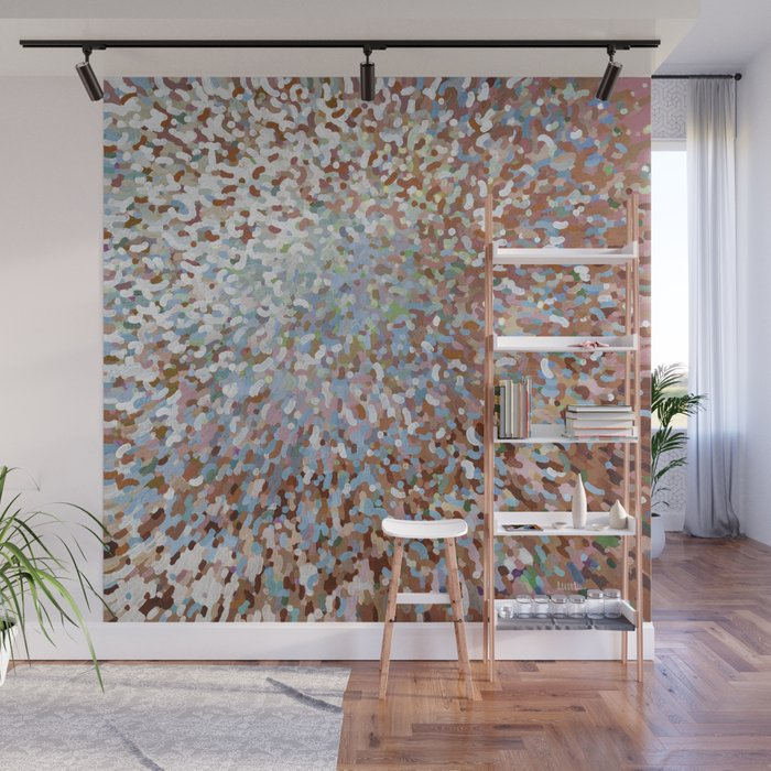 A New Day in Living Coral Juul Wall Mural