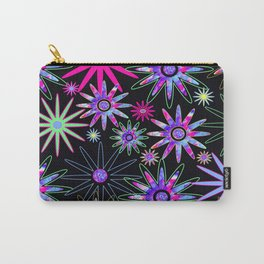 Psychedelic Flowers Carry-All Pouch