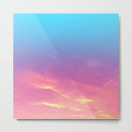 Pink Golden Skies Metal Print
