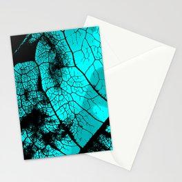 Aqua leaf Stationery Cards