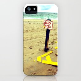 Beach Access iPhone Case