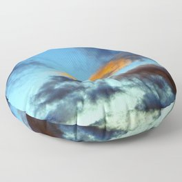 Fishy Cloud Glows in the Sky Floor Pillow