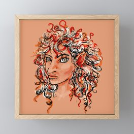 Female elf profile 1d Framed Mini Art Print