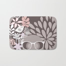 Afro Diva : Sophisticated Lady Pale Pink Peach Beige Bath Mat