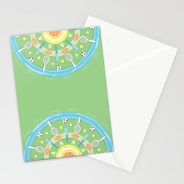 play outdoors mandala Stationery Cards