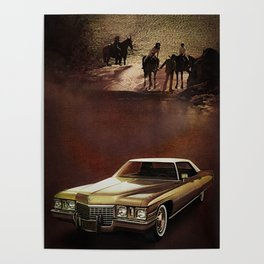 1972 Golden Cadillac Poster