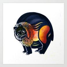Angry Lion Art Print