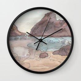 Big sur watercolor Wall Clock