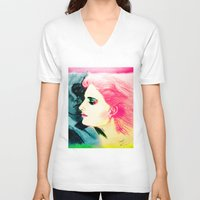 silent V-neck T-shirts featuring Silent Love by famenxt