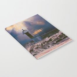 Light House in storm Notebook