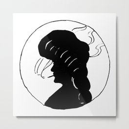 Lady smoking. Metal Print