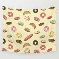 baking Wall Tapestries featuring Pastry by Julia Badeeva