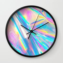 Holographic Foil Love Wall Clock