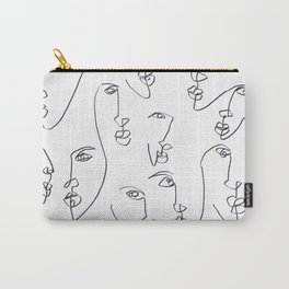 Twin Flames Black and White Carry-All Pouch