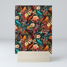 FLORAL AND BIRDS XVII Mini Art Print