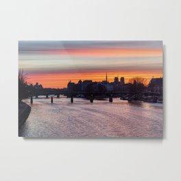 Sunrise over ile de la Cite - Paris Metal Print