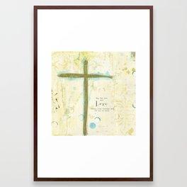Let His Love Freely Flow Framed Art Print
