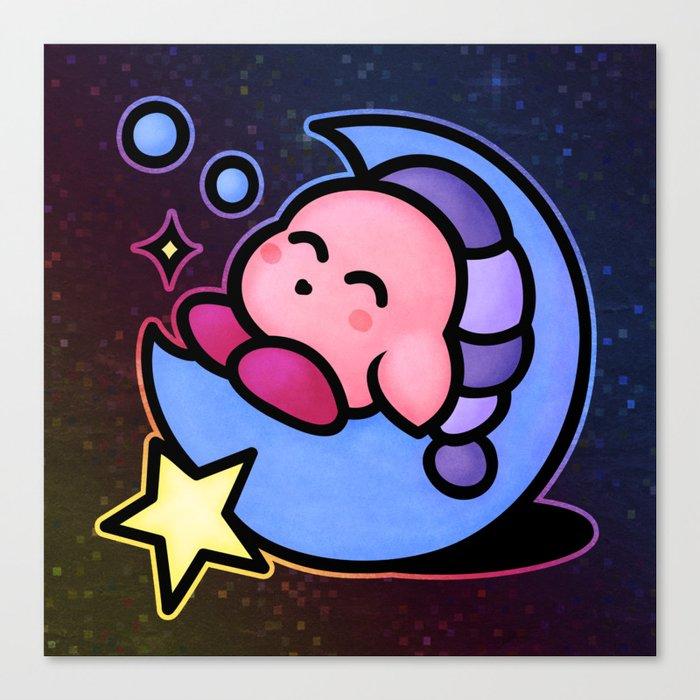Kirby Sleep (no text) Canvas Print