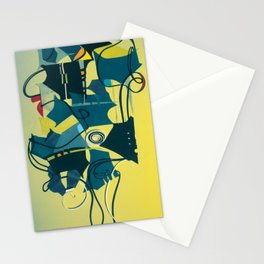 The Bouquet- Abstract Mixed Media Collage Stationery Cards