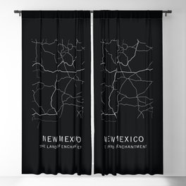 New Mexico State Road Map Blackout Curtain