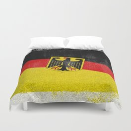 German Distressed Halftone Denim Flag Duvet Cover